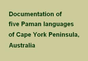 Deposit page image for the collection 'Paman languages: Wik Ngathan, Wik Mungkan'