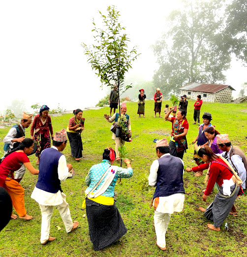 It is called SILI NACH 'cultural dance' which is quite popular not noly in Mewahnag community but also in Rai-Kiranti community.